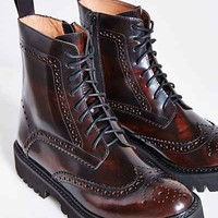 Jeffrey Campbell Clash Lace-Up Boot- Chocolate
