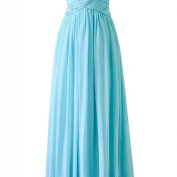 Kamilione Women's Chiffon Long Evening Bridesamdid Prom Dress