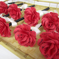 Personalized Party Favor Paper Rose Pens with Custom Prints and Colors Can Easily Be Made into a Centerpiece Set of 10 Pens
