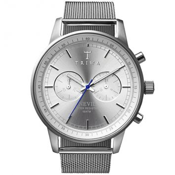 Triwa Stirling Steel Silver Nevil Watch w/ Mesh Band