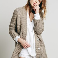 Free People Womens Cozy Cotton Cardigan