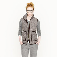 EXCURSION QUILTED VEST IN HERRINGBONE
