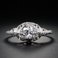 .50 Carat Vintage Filigree Diamond Ring - 10-1-3961 - Lang Antiques