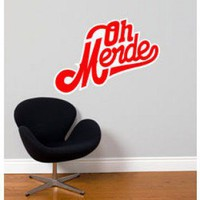 ADZif Blabla Oh Merde! Wall Decal - T3129-R - All Wall Art - Wall Art &amp; Coverings - Decor