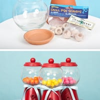 Create your bubble gum machine in Ideas for planning, organizing and decorating babies, kids and adults parties