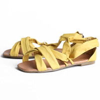 Restricted Sprinkle sandals in yellow - &amp;#36;59.99 : ShopRuche.com, Vintage Inspired Clothing, Affordable Clothes, Eco friendly Fashion