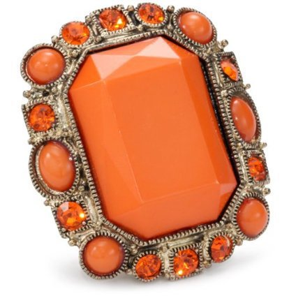 RAIN Adjustable Gold and Coral Ring - designer shoes, handbags, jewelry, watches, and fashion accessories | endless.com