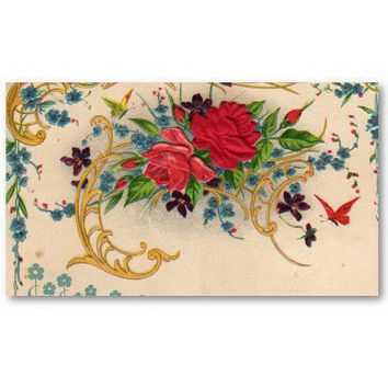 Vintage Floral Business card from Zazzle.com