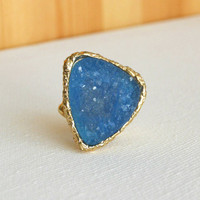Granted Wish Druzy Ring [3173] - $14.00 : Vintage Inspired Clothing &amp; Affordable Summer Dresses, deloom | Modern. Vintage. Crafted.