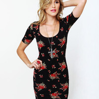 Obey Floral Tube Dress - Floral Dress - Backless Dress - Body-Con Dress