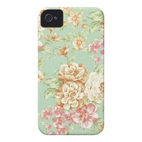Shabby Chic Roses Iphone 4 Case-mate Case from Zazzle.com