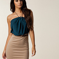 Chain Halter Belt Dress, Lili London