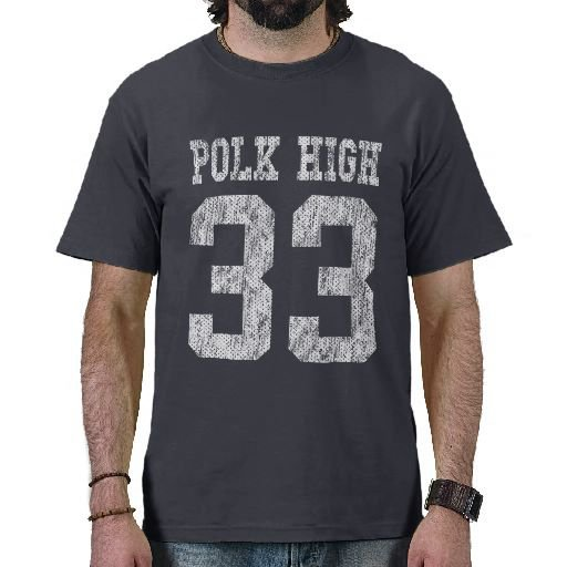 Polk High School T-Shirt (Aged) from Zazzle.com