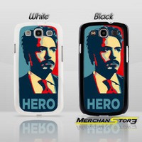 Robert Downey Jr Hero Samsung Galaxy S3 Case