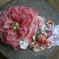 Shabby Chic Sequin Lace headband