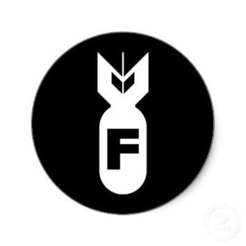 F Bomb Sticker from Zazzle.com