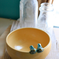 CustomMade Love Birds Bowl  4 to 6 Weeks for by tashamck
