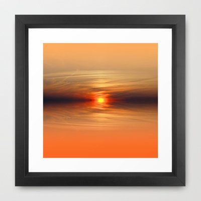 Sunkissed horizon Framed Art Print by Shalisa Photography | Society6
