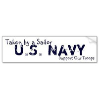 U.S. Navy, Support Our Troops, Taken by a Sailor Bumper Sticker from Zazzle.com
