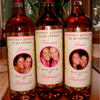 Private Listing for idoxitaliancutie15x Bridal Party Gifts - Custom Bridesmaid Wine Labels for each member of your Bridal Party