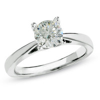 1 CT. Celebration Diamond?- Solitaire Engagement Ring in 18K White Gold - View All - Zales