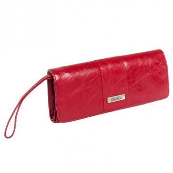 Kenneth Cole Reaction Red Elongated Clutch Wristlet
