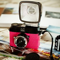 Diana Mini & Flash Lomography Pink & Black Top Camera