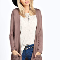 Lilly Long Sleeve Jersey Pocket Cardigan