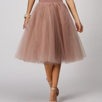 Pre-order: Natural Tulle Darling Party Skirt