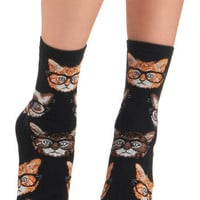 One Wise Kitty Socks | Mod Retro Vintage Socks | ModCloth.com