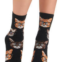 One Wise Kitty Socks