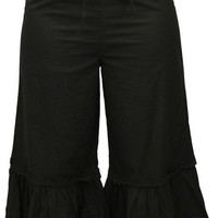 Traditional Victorian Bloomers - Black Cotton