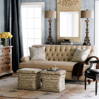The Horchow Collection - Rooms & Ideas - Parisian Chic - Living Rooms - Shop our Rooms
