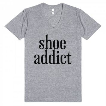 Shoe Addict-Unisex Athletic Grey T-Shirt