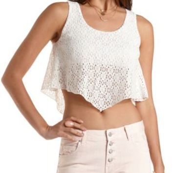 Lace Swing Crop Top by Charlotte Russe