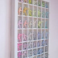 Marie Antoinette Inspired Pastel Army Men Display in White letterpress Tray