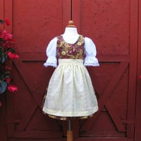 Girl's Dirndl German Bavarian Festival Dress or Costume Size 4 / 4T for Oktoberfest Octoberfest Children's Clothing