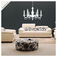 Buy Chandelier vinyl wall sticker on Shoply.