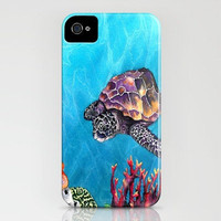 Sea Turtle iPhone 4/4s Case - Ocean Wildlife - Cell Phone Accessory