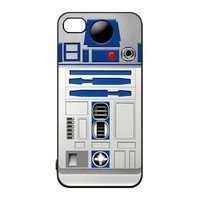 Cute R2D2 robot iPhone 4 / 4s charging Case (Black / white Color Case)