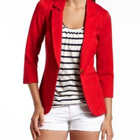 Red Hot Boyfriend Blazer: Charlotte Russe