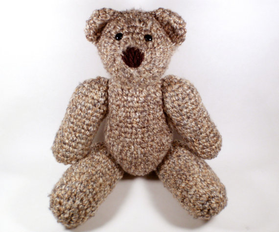 Large Crochet Teddy Bear - Handmade Teddy from amandajocrafts on