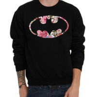 DC Comics Batman Floral Crewneck Sweatshirt 2XL