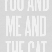 You and Me and the Cat by ashleyg on Etsy