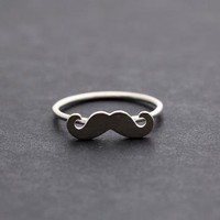 MUSTACHE ringadjustable in sterling silver by bythecoco on Zibbet