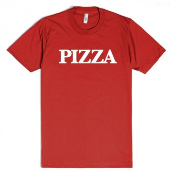 Pizza-Unisex Red T-Shirt