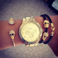 Double Skull Bracelet - Furor Moda