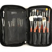 Multifunction Fabrics Makeup Brush Zipper Folio Case Cosmetic Handbag For Travel
