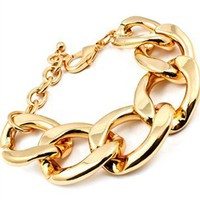 Gold Curb Link Bracelet