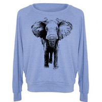 Womens ELEPHANT Tri-Blend Pullover - American Apparel - S M L (8 Color Options)